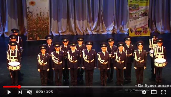 исполняет кадетский хор «Патриоты России»