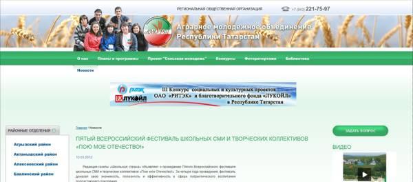 Информационная поддержка 5-го Всероссийского фестиваля татарской молодёжью